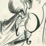 Aladdin sketch Jafar and Genie