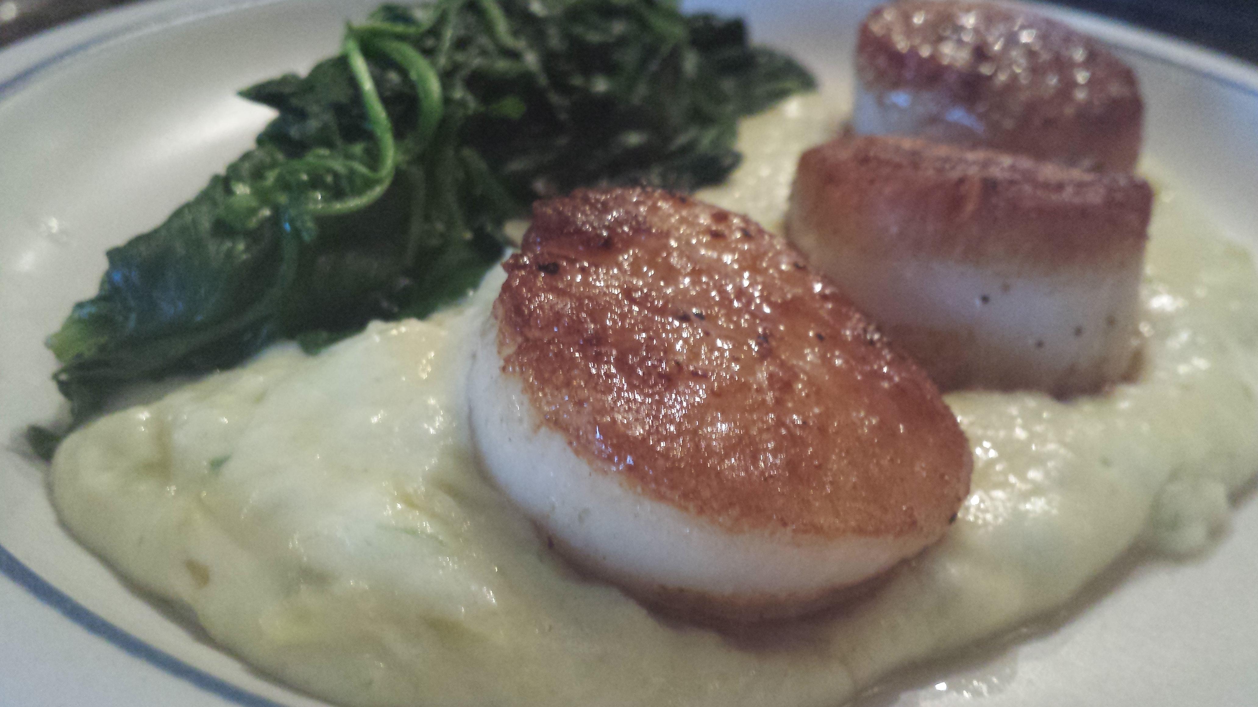 Sea Scallops with Creamed Leek Potatoes | The Disney Diva
