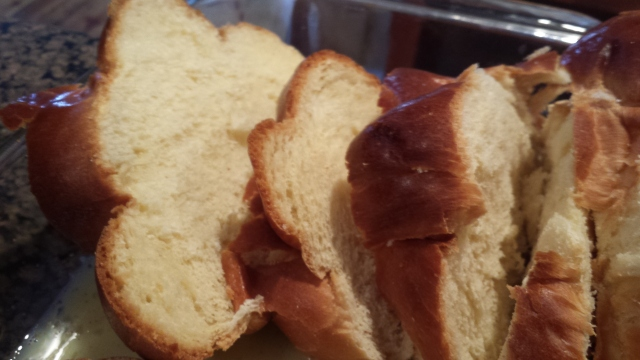 Buttery golden bread, yum!
