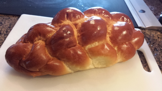 The beautiful Challah bread!