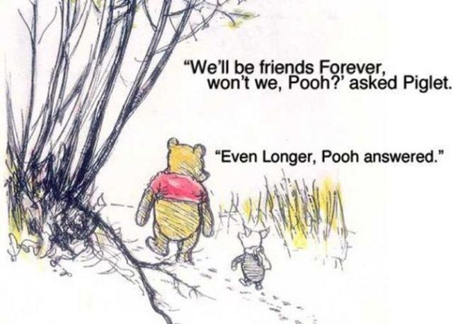 pooh friends forever