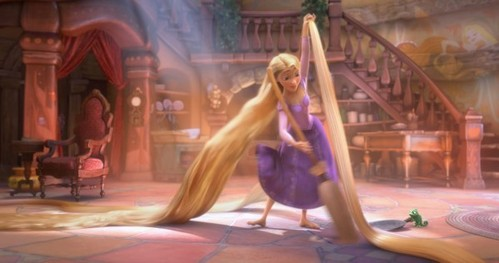 Rapunzel must get some serous bird nests!