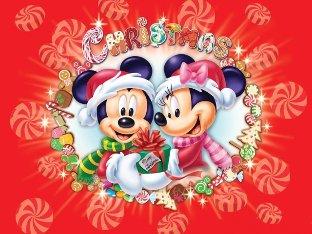 mickey minnie christmad
