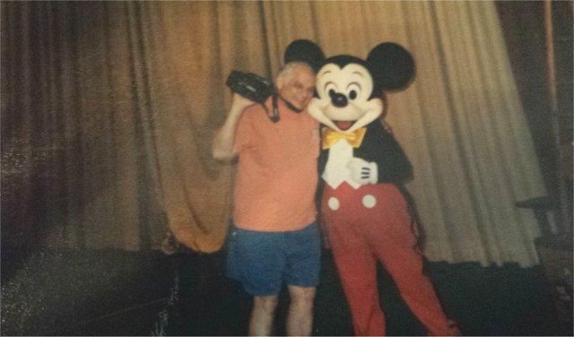 Papa with Mickey