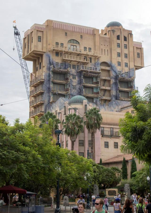 "The Disneyland Resort removed the sign on the top of the Tower of Terror attraction at Disney California Adventure Monday night. The sign said ""The Hollywood Tower Hotel."" This is being done in preparation for the new Guardians of the Galaxy-Mission Breakout version for the ride that will open in 2017. The ride closes Jan. 2. Photo taken in Anaheim on Tuesday, September 20, 2016. (Photo by Mark Eades, Orange County Register/SCNG)"